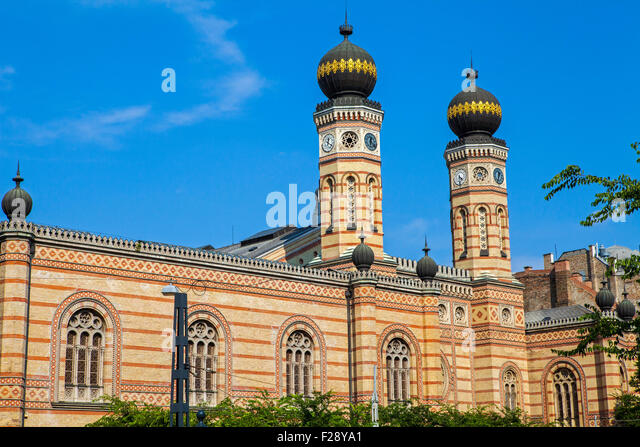 The magnificent Dohany Street Synagogue in Budapest, Hungary. - Stock Image