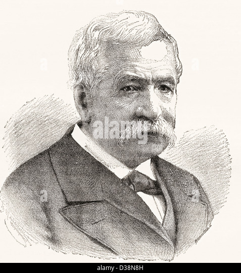 Ferdinand Marie, Vicomte de Lesseps, 1805 –1894. French developer of the Suez Canal. - Stock Image
