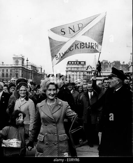 Winifred Ewing at a political event - Stock Image