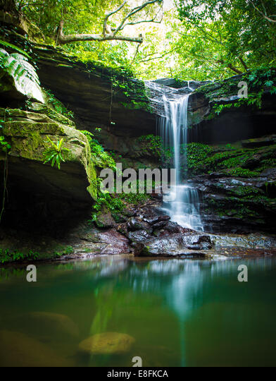 Small waterfall - Stock Image