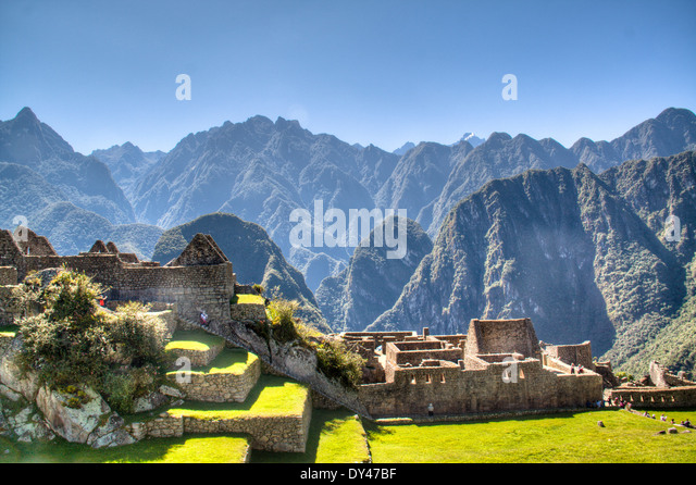 Machu Picchu in the sacred valley of Peru - Stock-Bilder