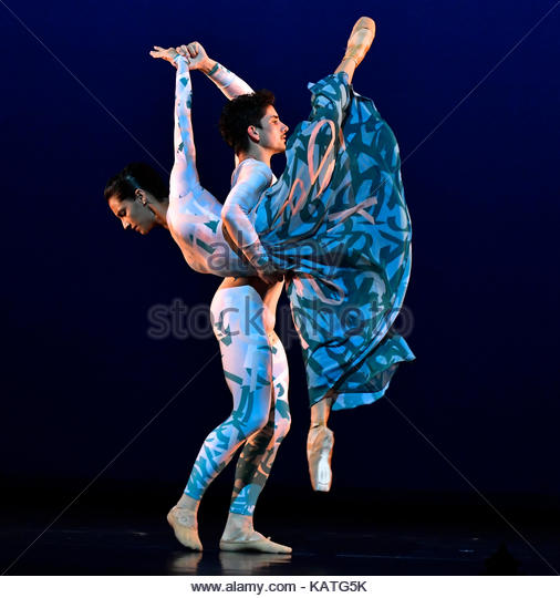 London, UK. 27th Sep, 2017. Acosta Danza, DEBUT performed by The Acosta Dance Company at Sadlers Wells Theatre London, - Stock Image