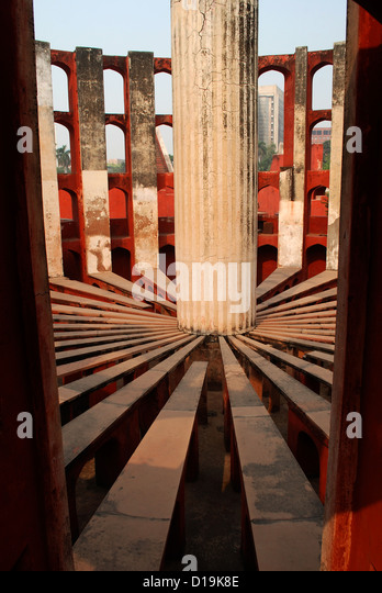 jantar mantar; an ancient astronomical observatory in delhi,india - Stock Image