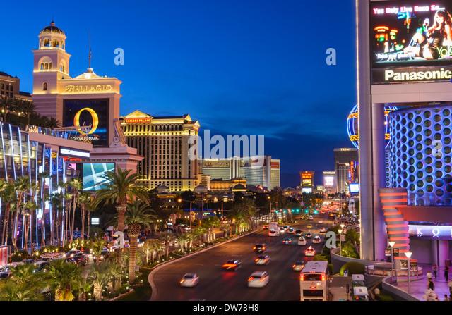 The Strip, Las Vegas, Nevada, USA - Stock Image
