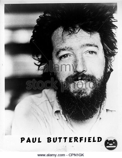 circa 1970's - Promotional close-up head shot of Paul Butterfield. Editorial use only. Photo Courtesy Granamour - Stock Image