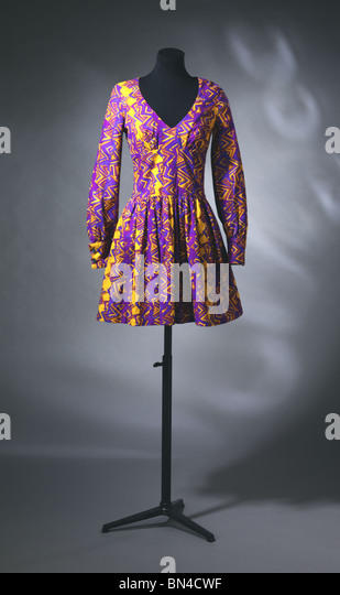 Dress, by Biba. England, 1967 - Stock-Bilder