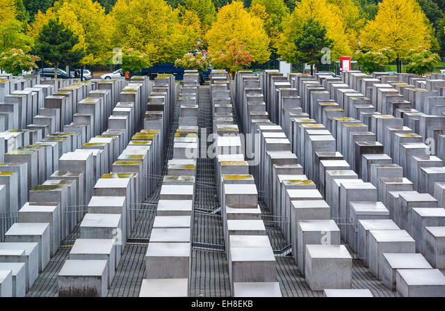 Berlin, Germany at the Holocaust monuments. - Stock Image