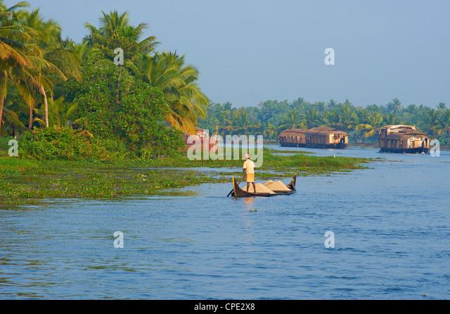 Backwaters, Allepey, Kerala, India, Asia - Stock-Bilder