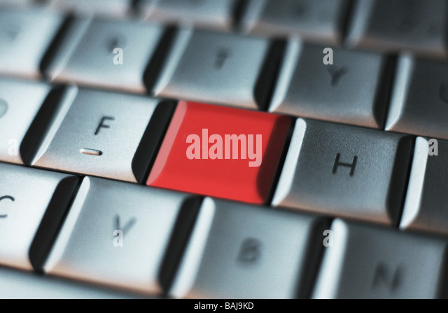 Blank Button Computer Key Board PC job - Stock Image