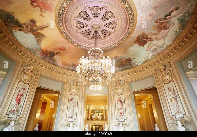 Opera Garnier palace interior in Paris - Stock Image