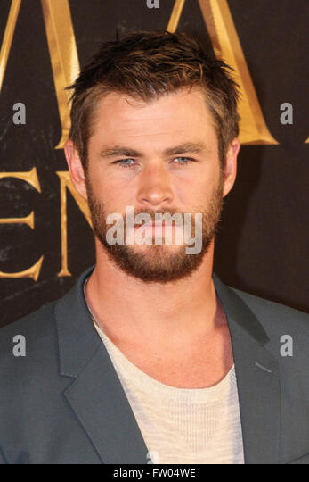 Christopher Bruce Chris Hemsworth australischer Actor beim Photocall zu The Huntsman & The Ice Queen in the - Stock Image