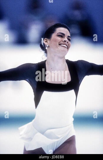 Nancy Kerrigan (USA), silver medalist competing at the 1994 Olympic Winter Games - Stock-Bilder