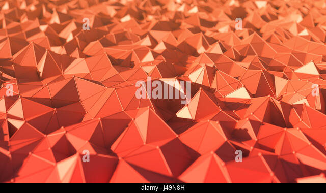 Abstract low polygon style background - 3D illustration - Stock-Bilder