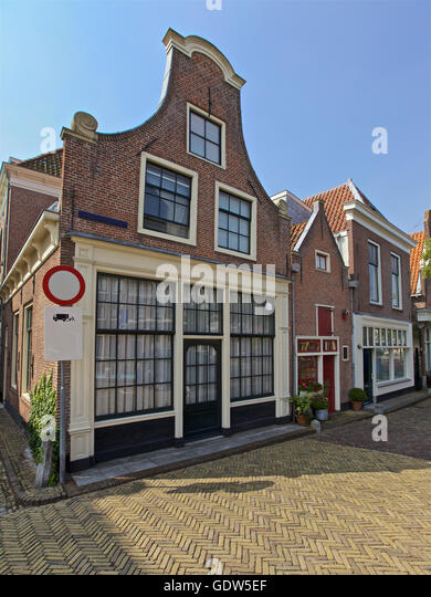 Row of buildings in Alkmaar, Netherlands, Holland - Stock Image