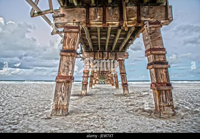 Daytona beach pier stock photos daytona beach pier stock for Sunglow fishing pier