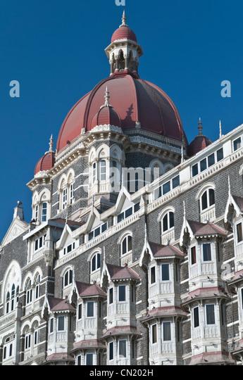 Taj Mahal Palace Hotel Colaba Mumbai Bombay India - Stock Image