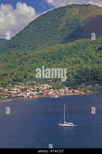 St Lucia sail boat near Soufriere town - Stock Image