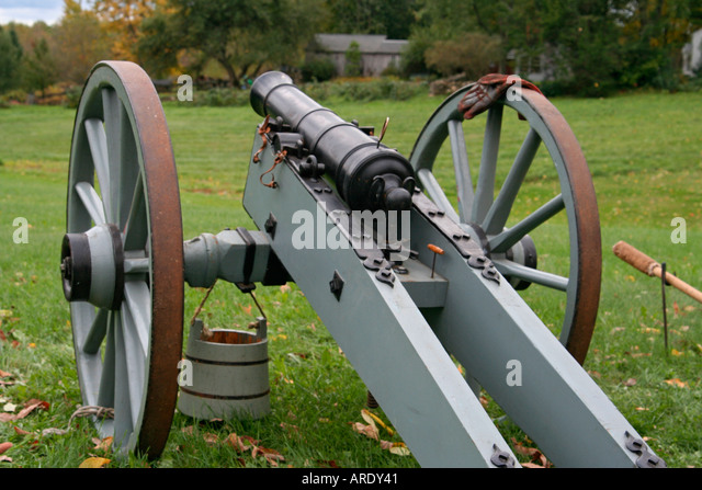 Revolutionary War cannon at Charlton History Day Charlton Massachusetts - Stock Image