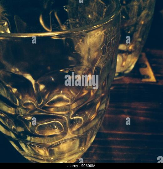 Beer glasses - Stock Image