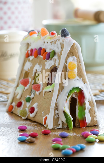Gingerbread house - Stock Image