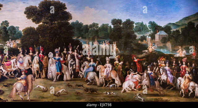ActiveMuseum_0005977.jpg / Air, is part of a set of four painting acquired by the Cadinale Richelieu , respectively - Stock Image