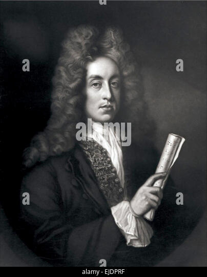 Henry Purcell, English composer. - Stock Image