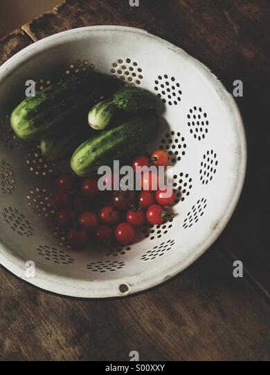 Vegetables harvested from garden. - Stock Image
