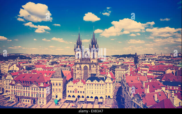 Vintage toned picture of Prague, Czech Republic. - Stock-Bilder