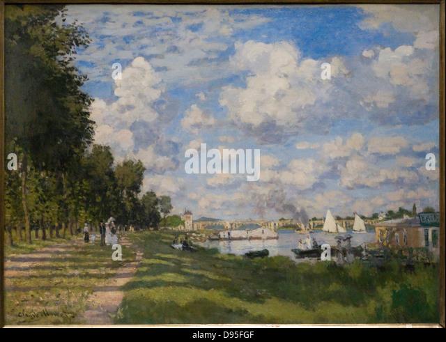 Claude monet landscape stock photos claude monet - Piscine bassin exterieur paris argenteuil ...