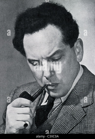 Harry Blech, violinist and conductor, photo Alfred Lammon, from souvenir programme of the Royal Festival Hall, 1951 - Stock-Bilder