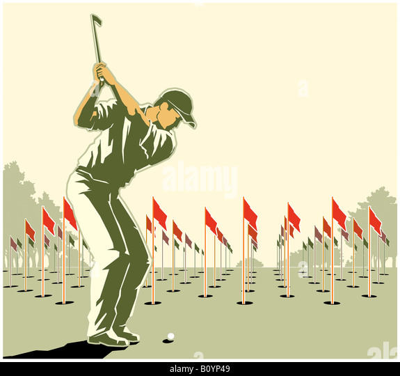 Golf player - Stock Image