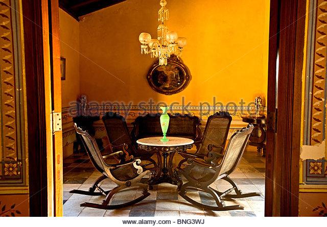 romantic museum,brunet palace,trinidad,cuba - Stock Image