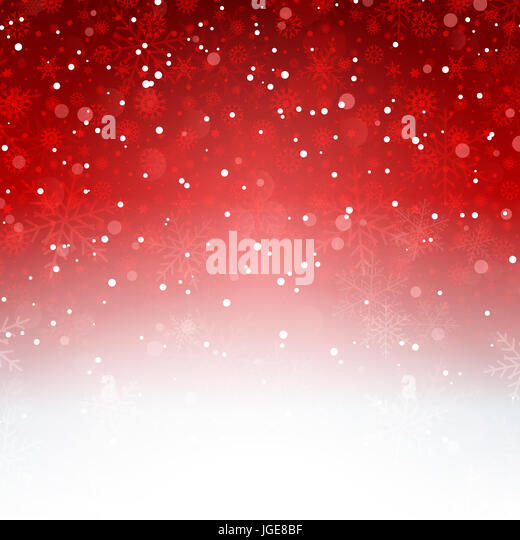 Decorative Christmas background with snowflakes - Stock Image