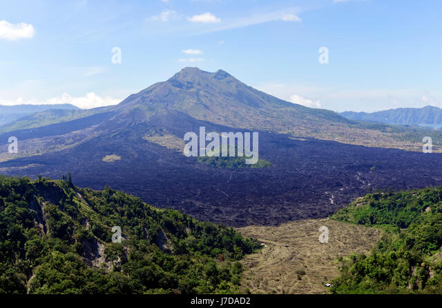 Mount Batur, Mount Gunung Abang, Bali, Indonesia, Asia - Stock-Bilder