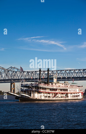 USA, Louisiana, New Orleans, riverboat Natchez on the Mississippi River - Stock-Bilder