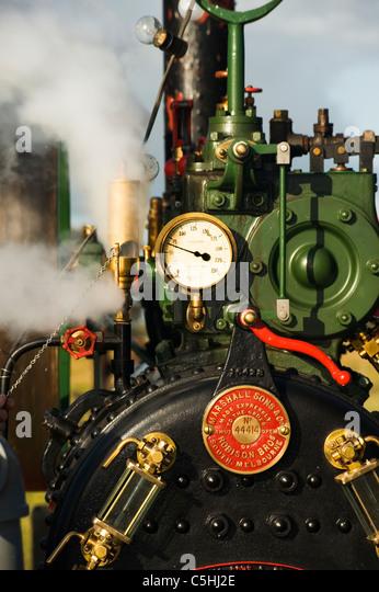 working steam engine - Stock Image