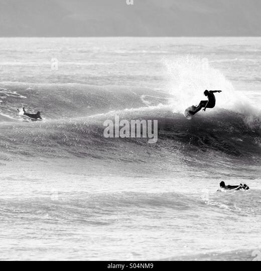Surf at manorbier - Stock Image