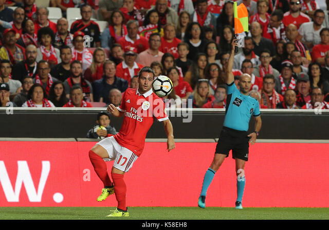 Benfica«s forward Andrija Zivkovic from Serbia during the Premier League 2017/18 match between SL Benfica v - Stock Image