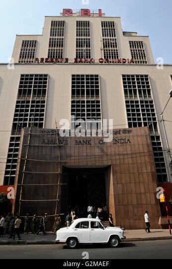 INDIA Westbengal, Kolkata, Reserve Bank of India / INDIEN, Westbengalen, Kolkata, Reserve Bank of India - Stock-Bilder