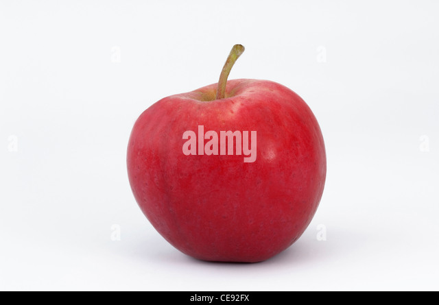Peach Red Summer Apple. Apple, studio picture against a white background. - Stock Image