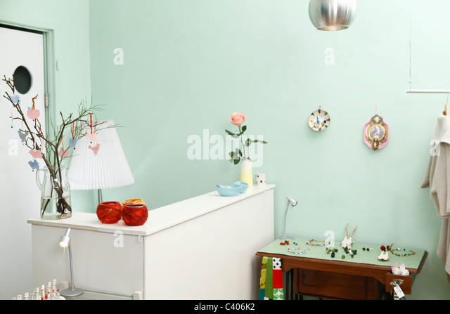 interior shot of shop - Stock Image