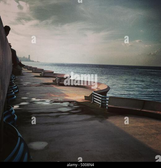 Beirut Lebanon water front, solidere, Middle East, Mediterranean - Stock Image