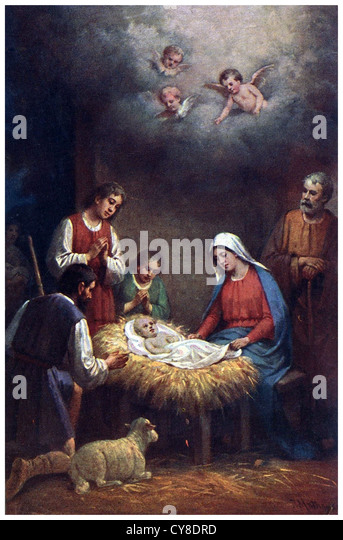 Jesus Birth In The Stable At Bethlehem