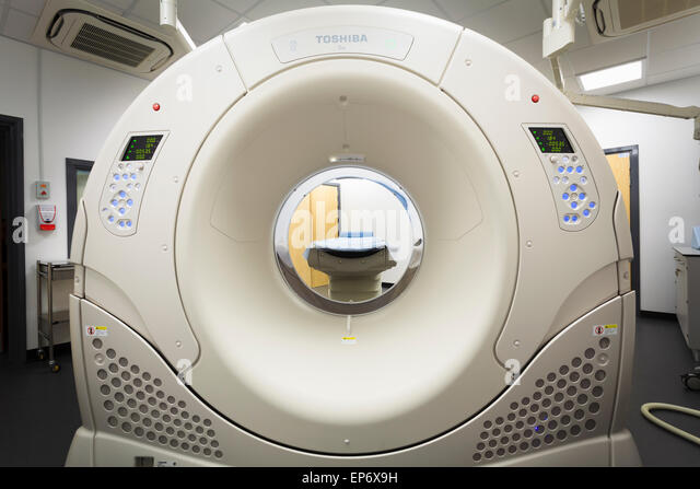 MRI scanner Magnetic Resonance Imaging Hospital Medical Imaging department in hospital - Stock Image