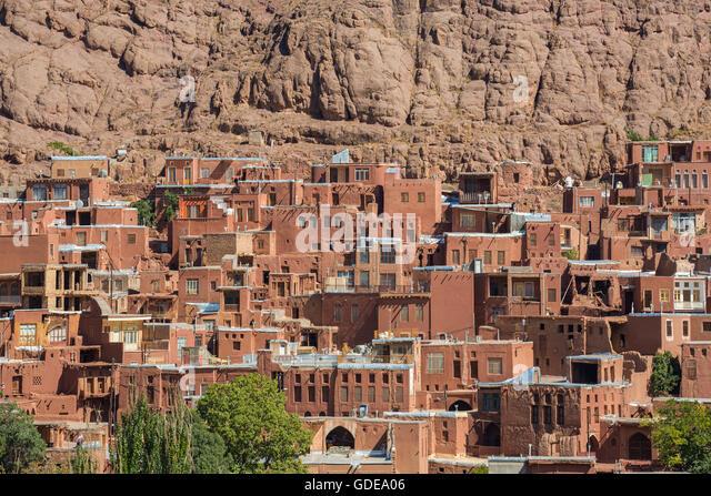 Iran,Central Iran,Abyaneh Village - Stock Image