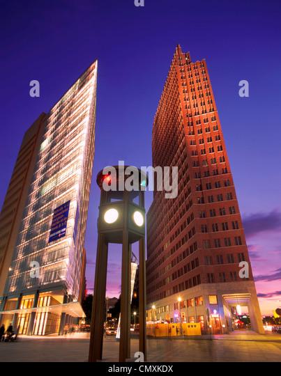 Highrises, Potsdamer Platz, Berlin - Stock Image