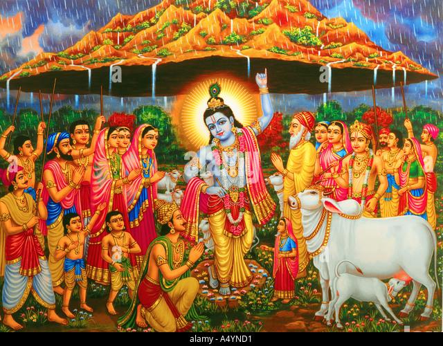 Lord Krishna - Stock Image