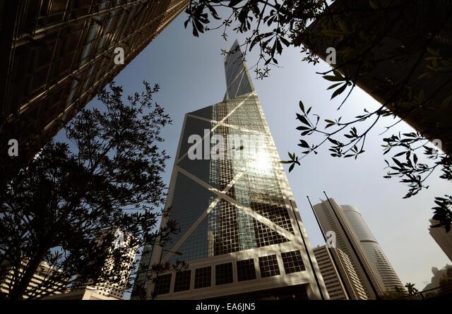 China, Hong Kong, Bank of China Tower - Stock Image
