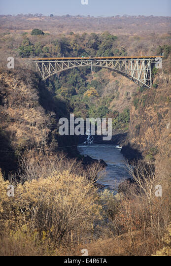 Victoria Falls Bridge, Zimbabwe, Africa - Stock Image