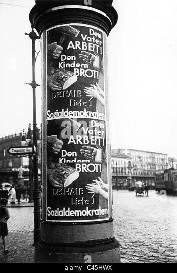 SPD election poster, 1932 - Stock Image